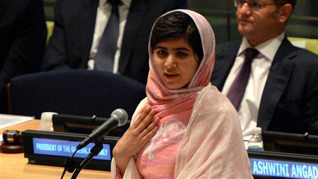 Malala à la tribune de l'ONU en juillet 2013 / Photo AFP