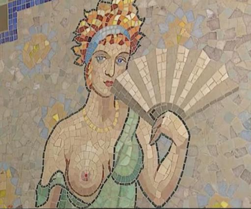 Mosaïque d'une maison close, rue Blondel à Paris