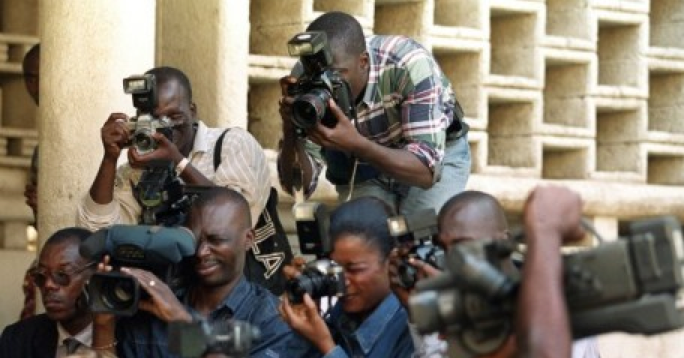 Des journalistes à Abidjan / Photo AFP