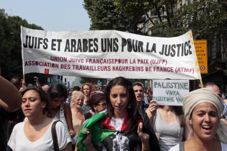 Manifestations en France le 19 juillet 2014 ©AFP