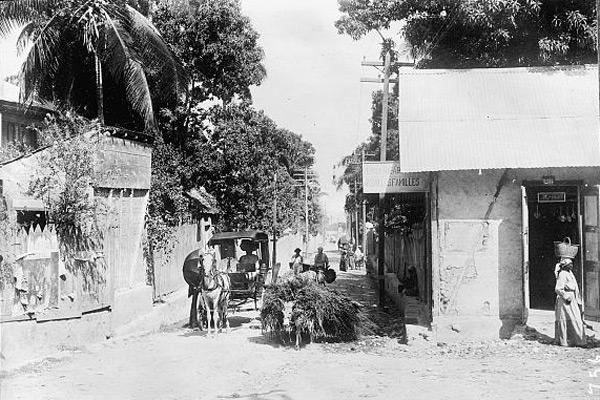 Rue de Port au Prince, 1920, Library of Congress