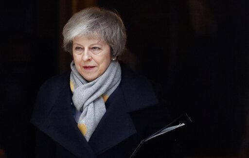 Theresa May quittant le 10, Downing Street le 15 janvier 2019.<br />