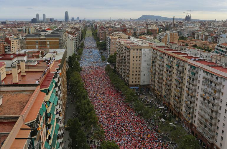 """Diada"" du 11 septembre 2015 à Barcelone<br />