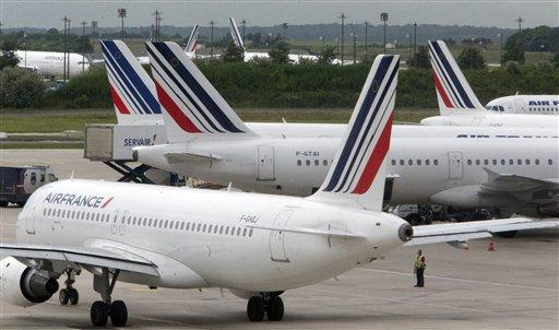 Flotte d'Air France sur le tarmac de l'aéroport Charles de Gaulle<br />