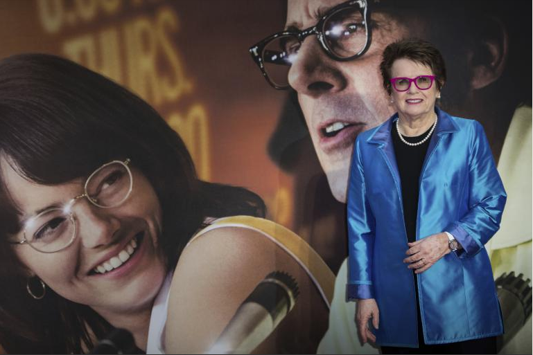 Billie Jean King lors de la première du film <em>Battle of the Sexes</em>, au festival du film de Londres, le 7 octobre 2017.
