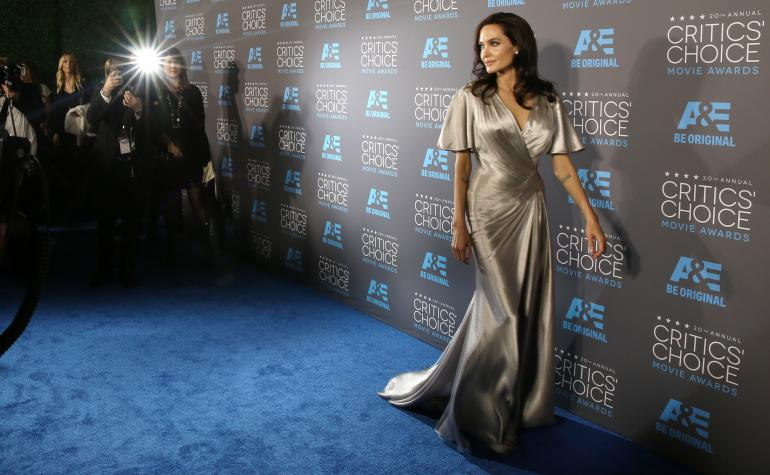 Angelina Jolie à Hollywood lors de la cérémonie des Critics Choice Movie Avards, en janvier 2015