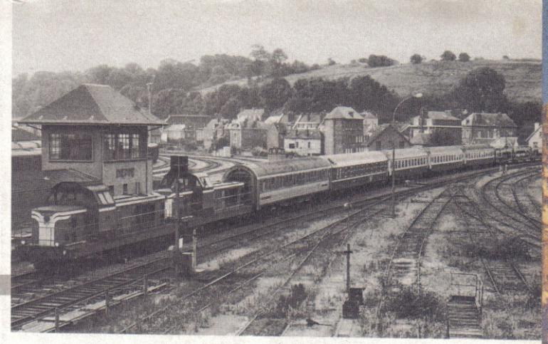 Train en gare de Dieppe en 1970.<br />