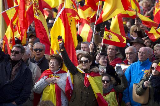 Rassemblement de Vox à Madrid le 1<sup>er</sup> décembre 2018.<br />