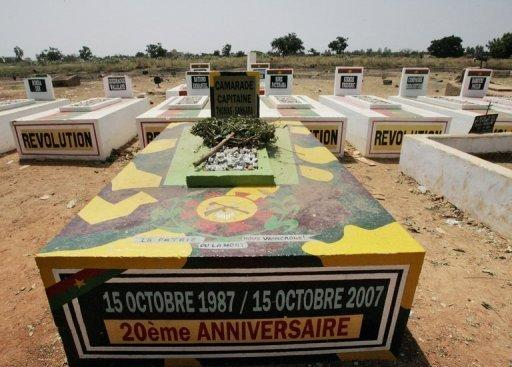 La tombe de Thomas Sankara au Burkina Faso (photo : AFP)