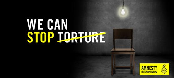 "Campagne ""Stop torture"" d'AMnesty International"