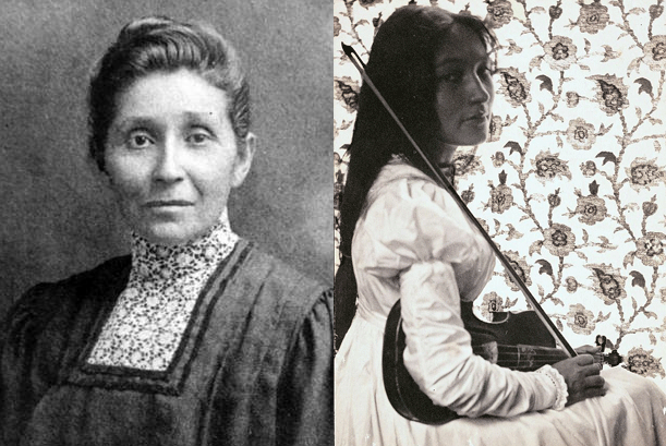 Le docteur Susan La Flesche Picotte et Zitkala-Sa, avec son violon - The National Library of Medicine et Wikicommons et Gertrude Kasebier Smithsonian Institution - Wikicommons