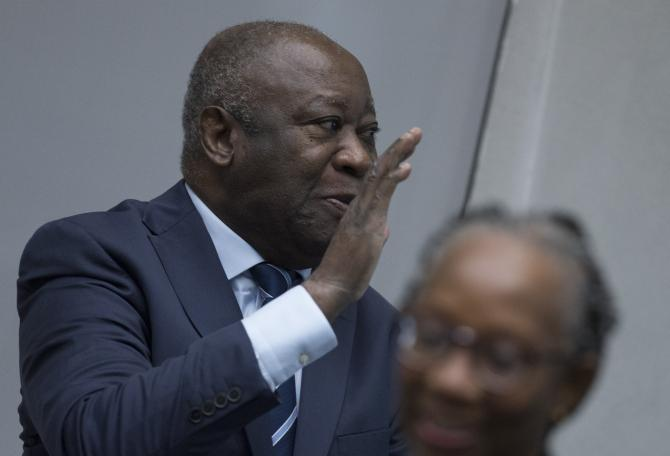 Laurent Gbagbo à l'annonce du verdict le 15 janvier 2019<br />