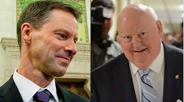 Nigel Wright et Mike Duffy.