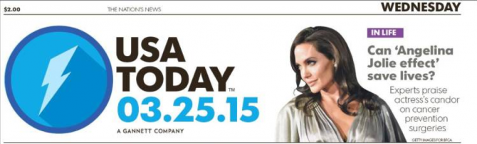 La Une de USA TODAY plus circonspecte