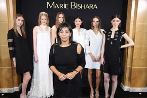 La styliste égyptienne, Marie Bishara, à la Fashion Week de Paris.