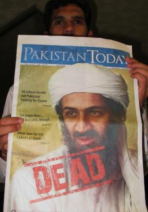 "La une du quotidien ""Pakistan Today"". (photo : Pauline Garaude)"