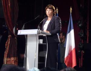 Martine Aubry lors de son meeting du 21 septembre 2011