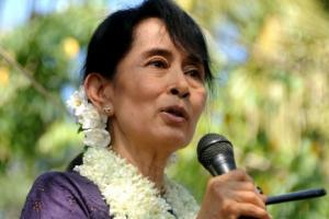 Aung San Suu Kyi, chef du parti de la Ligue Nationale Démocratique / AFP - Soe Than WIN