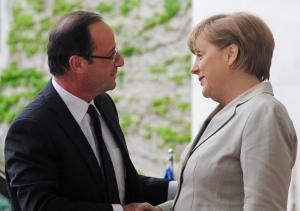 Rencontre Merkel - Hollande en mai 2012 (AFP)