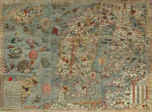 Carta Marina, 1539 (Wikipedia)