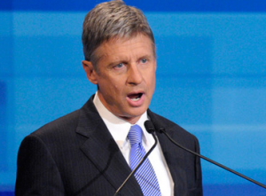 Le candidat libertarien Gary Johnson (Photo AFP)