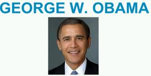 Montage photo d'Obama et George W. Bush sur le site du Huffington Post
