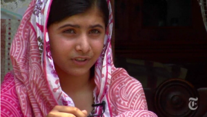 Capture d'écran du documentaire sur Malala