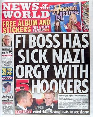 News of the world, le journal qui a divulgué l'affaire Max Mosley