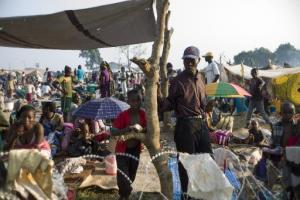 Camp de réfugiés près de l'aéroport de Bangui / Photo AFP