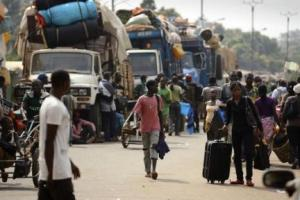 La population fuit Bangui / Photo AFP