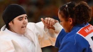 La judoka saoudienne aux JO de Londres / Photo AFP