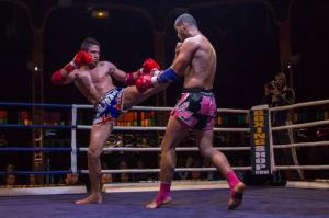 Zakaria Moumni en match de boxe / Photo DR