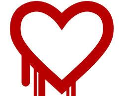 "Le logo de la faille ""Heartbleed"""