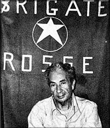 Aldo Moro, en 1978, pendant sa détention<br/>par les Brigades rouges