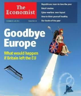 "Une du journal d'affaires britannique ""The Economist"""