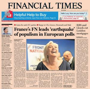 La Une du Financial Times