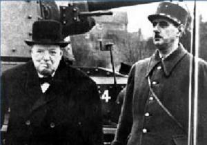 De Gaulle et Churchill en 1940