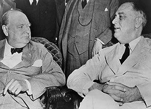 Roosevelt et Churchill en 1942
