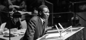 Ahmed Sékou Touré à la tribune des Nations unies en 1962, Wikicommons