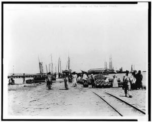 Port au Prince, le port, en 1920, Library of Congress