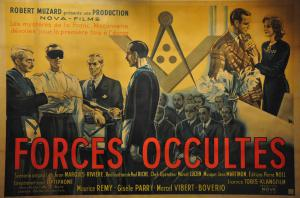 Affiche du film antimaçonnique <em>Forces Occultes</em> de Paul Riche, 1943.<br />