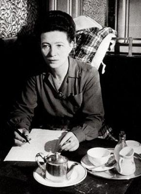La philosophe Simone de Beauvoir.