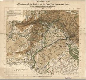 Carte allemande de l'Afghanistan, 1842, Library of Congress