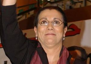 Louisa Hanoun en 2009, candidate à l'éléction présidentielle.<br />