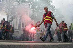 Manifestation contre la<em> Loi Khomry </em>à Paris, juin 2016<br />