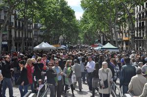 A Barcelone, les Ramblas<br />