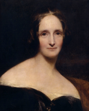 Portrait de Mary Shelley par Richard Rothwell (1840).