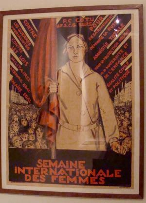 Affiche de la Journée Internationale des Femmes en France, en 1925 – coll. Michel Dixmier.