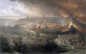 La destruction de Jerusalem par les Romains, David Roberts, 1851