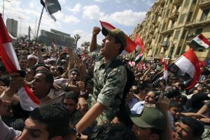 Manifestation Place Tahrir en avril 2011<br />